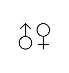 female male gender icon on white background vector image
