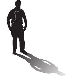 iPod man vector image