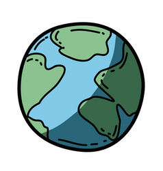 Light colored hand drawn silhouette of map world vector