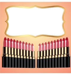 Lipstick Background vector image vector image