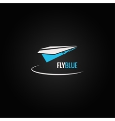 paper plane concept design background vector image