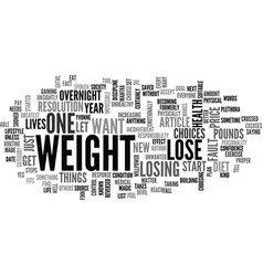 Why do you say you want to lose weight text word vector