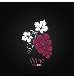 wine grapes design background vector image