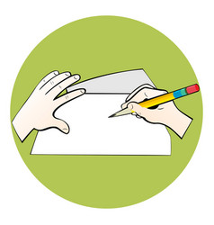 writing on paper vector image
