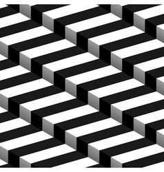 3d Striped Seamless Pattern vector image vector image