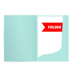 fold realistic mockup design with shadow effect vector image vector image