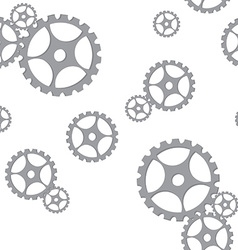 Silver gears pattern vector image