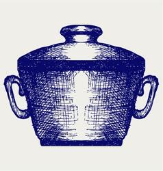 Steel pot vector image