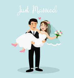 wedding couple bride and vector image