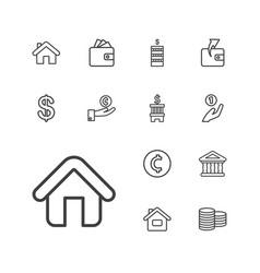 13 loan icons vector