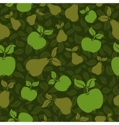 apple pear seamless background vector image