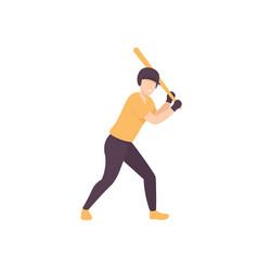 baseball man vector image
