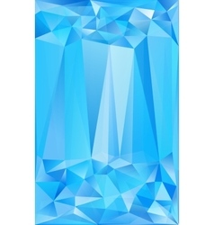 Blue triangles abstract poster background vector