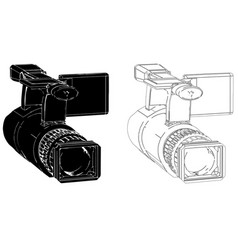 camera on white background vector image