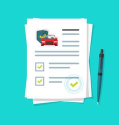 Car insurance document report vector
