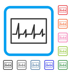 cardiogram framed icon vector image