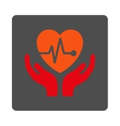 Cardiology Rounded Square Button vector image
