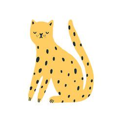 cartoon amusing spotted wild animal flat vector image