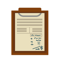 Check list or notepad paper sheet with notes and vector