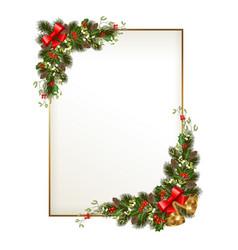 Christmas frame with garland vector
