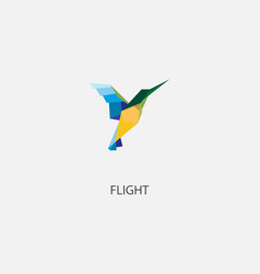 color of origami bird vector image