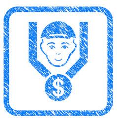 Customer sales filter framed stamp vector