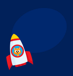 cute little cat kitten astronaut spaceman vector image