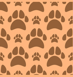 dog footprints seamless pattern vector image