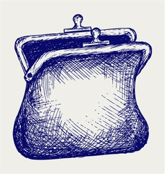 Empty open purse vector image