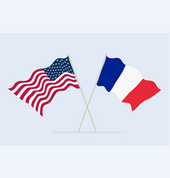 flag usa and france together a symbol of vector image