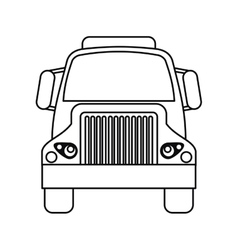 Front truck transportation commercial vehicle vector