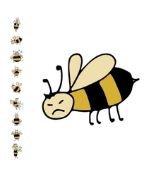 Funny bee sketch for your design vector