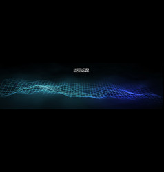 futuristic blue technology vector image
