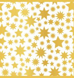 golden foil star seamless pattern vector image