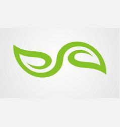 green leaf organic abstract logo vector image