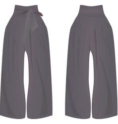 Grey wide pants vector