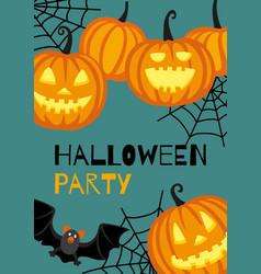 halloween banner template vector image