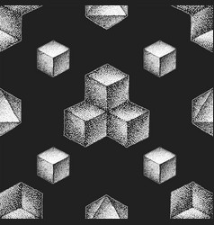 hand drawn dotart blackwork pattern vector image