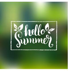 Hello summer background fun vector