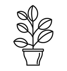 High houseplant icon outline style vector