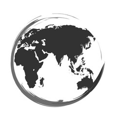 icon of a globe made from brush vector image