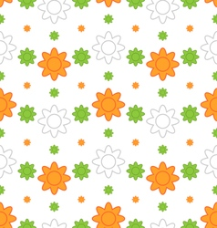 Indian seamless wallpaper in traditional tricolor vector