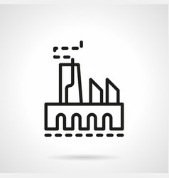 Industry simple line icon vector