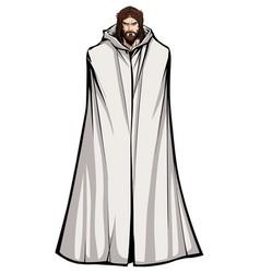 jesus standing tall vector image