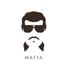 latino man with mustache wearing dark sunglasses vector image