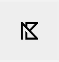 Letter ak k ka monogram logo design minimal icon vector