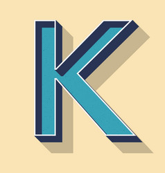 Letter k retro text style fonts concept vector