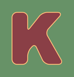 Letter k sign design template element vector
