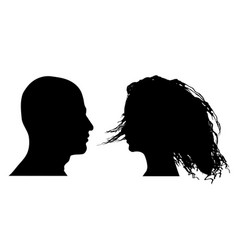 man and woman faces vector image