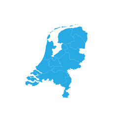 map of netherlands high detailed map - netherlands vector image